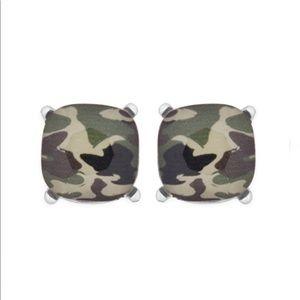 🔴 3 Left❗️5🌟 CAMO Glass Earrings